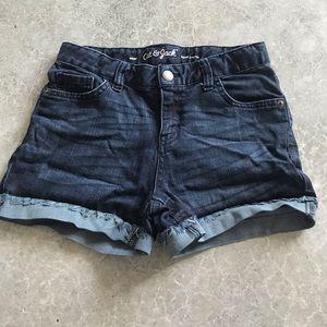 cat & jack jean shorts- size large 10/12